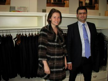 Fashion designer Mariana Razuk, a participant in the Men's Style project, visited Richmart's factory
